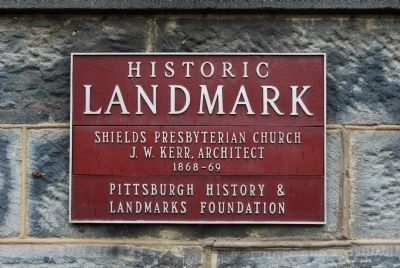 Shields Presbyterian Church Marker image. Click for full size.