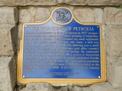 The Founding of Petrolia Marker image. Click for full size.