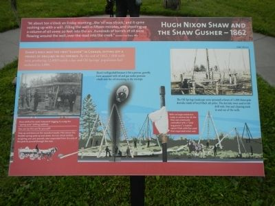 Hugh Nixon Shaw and the Shaw Gusher - 1862 image. Click for full size.
