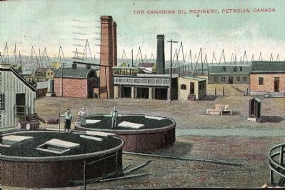 The Canadian Oil Refinery, Petrolia, Canada image. Click for full size.