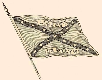 The Flag of Company F, 17th Virginia<br>The Nighthawk Rangers image. Click for full size.