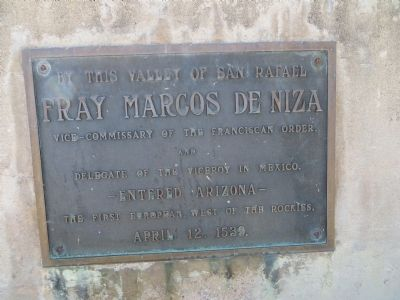 Fray Marcos De Niza Marker image. Click for full size.