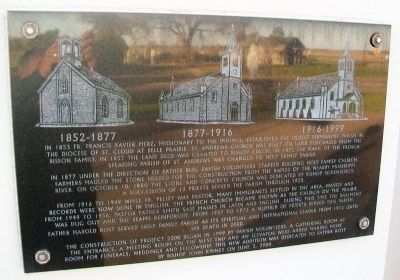Holy Family Parish Marker image. Click for full size.