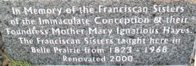 Franciscan Sisters of the Immaculate Conception Marker image. Click for full size.