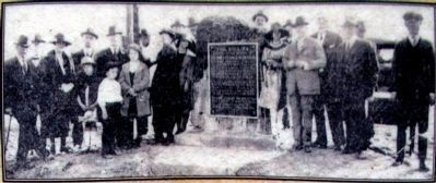 Dedication of the Dennis Memorial<br>April 20, 1923 image. Click for full size.