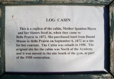 Log Cabin Marker image. Click for full size.