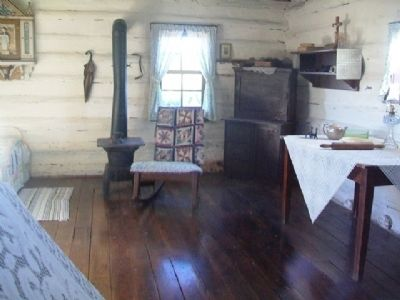 Log Cabin Interior image. Click for full size.