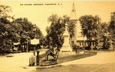 <i>The Soldiers Monument, Flemington, N.J.</i> - Historical View image. Click for full size.