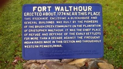 Fort Walthour Marker image. Click for full size.