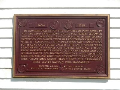 Capture of Port Royal Marker image. Click for full size.