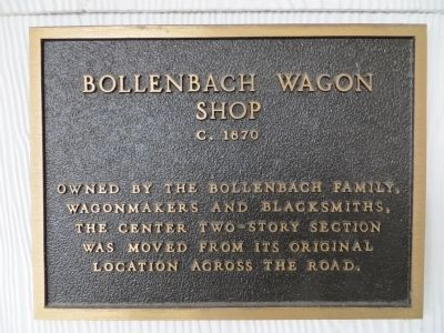 Bollenbach Wagon Shop Marker image. Click for full size.