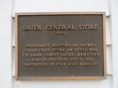 Sauer General Store Marker image. Click for full size.