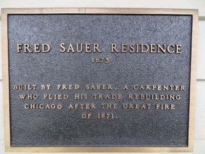 Fred Sauer Residence Marker image. Click for full size.