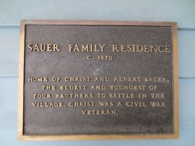 Sauer Family Residence Marker image. Click for full size.