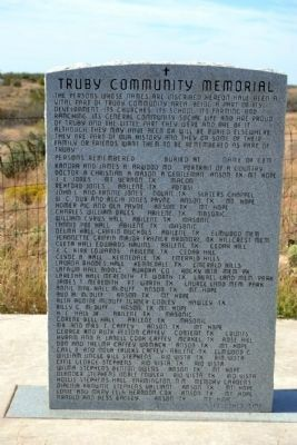 Truby Community Memorial image. Click for full size.