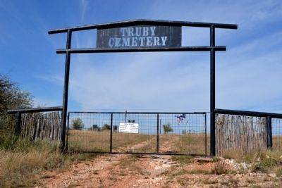 Truby Cemetery Entrance image. Click for full size.