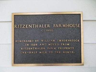 Ritzenthaler Farmhouse Marker image. Click for full size.