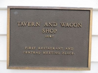 Tavern and Wagon Shop Marker image. Click for full size.