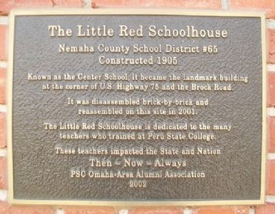 The Little Red Schoolhouse Marker image. Click for full size.
