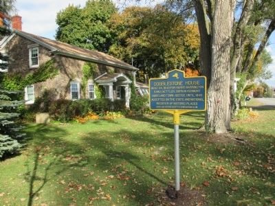 Cobblestone House and Marker - Eastward image. Click for full size.