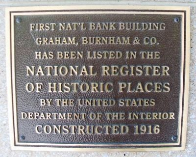 First National Bank Building NRHP Marker image. Click for full size.