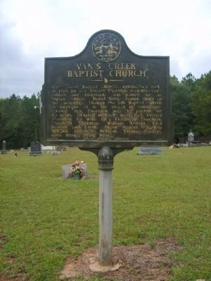 Van's Creek Baptist Church Marker image. Click for full size.