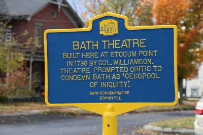 Bath Theatre Marker image. Click for full size.