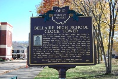 Bellaire High School Clock Tower Marker image. Click for full size.