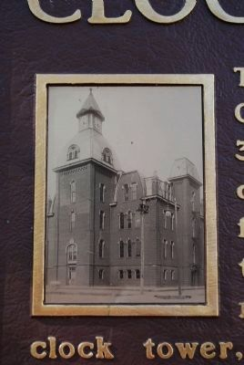 Central School Clock Tower and Bell photo image. Click for full size.