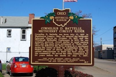 Cornelius D. Battelle, Methodist Circuit Rider Marker image. Click for full size.