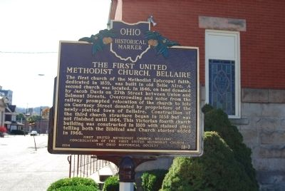 The First United Methodist Church, Bellaire Marker image. Click for full size.