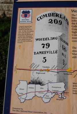 The National Historic Road in Ohio Marker image. Click for full size.