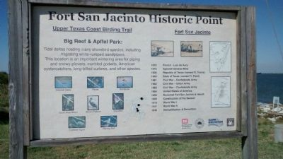 Fort San Jacinto Informational Sign image. Click for full size.