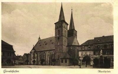 View of the Church Across the Market Square. image. Click for full size.