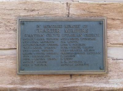 Scandian Grove Church Charter Members Plaque image. Click for full size.