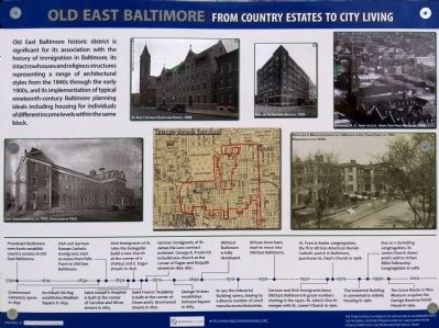 Old East Baltimore Marker image. Click for full size.