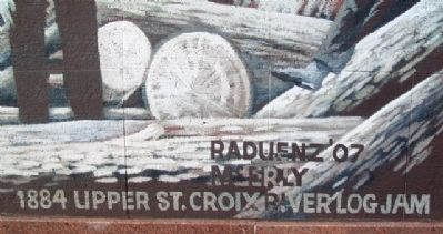 1884 Upper St. Croix River Log Jam Mural Title image. Click for full size.