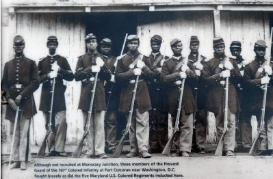107th Colored Infantry at Fort Corcoran image. Click for full size.
