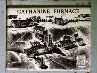 Former Catharine Furnace Marker image. Click for full size.
