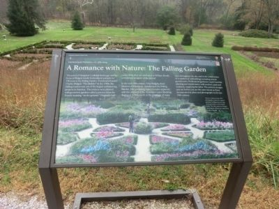 A Romance with Nature: The Falling Garden Marker image. Click for full size.