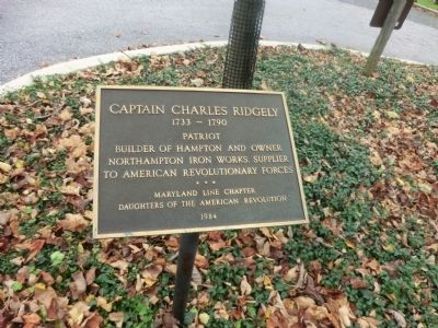 Captain Charles Ridgely Marker image. Click for full size.