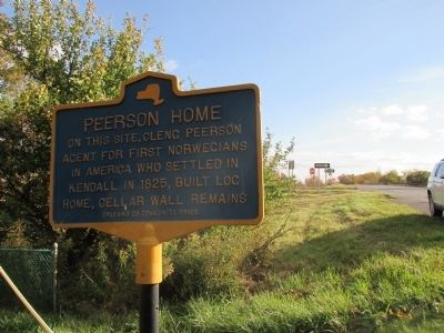 Peerson Home Marker - Southward image. Click for full size.