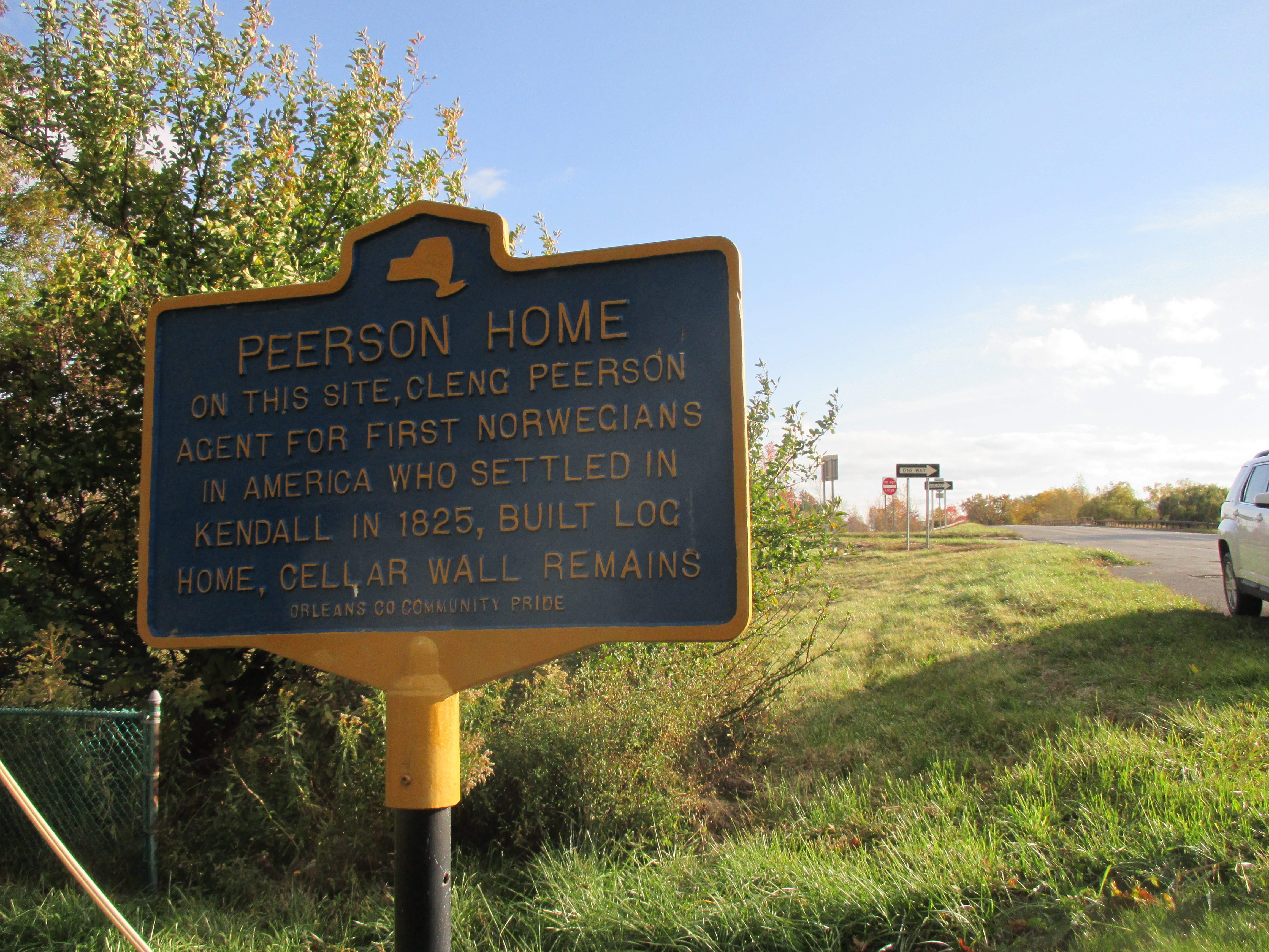 Peerson Home Marker - Southward