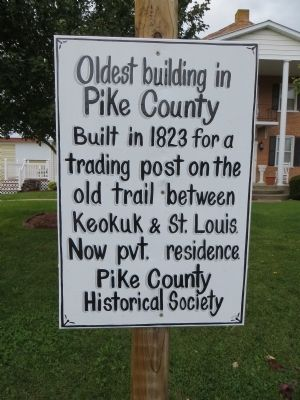 Oldest Building in Pike County Marker image. Click for full size.