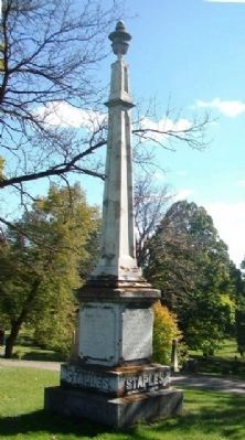 Isaac Staples Monument in Fairview Cemetery image. Click for full size.
