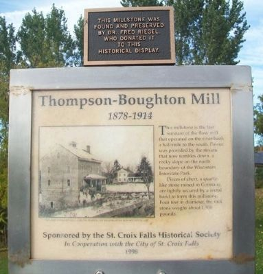 Thompson–Boughton Mill Marker Update image. Click for full size.