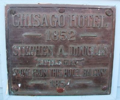 Chisago Hotel Marker image. Click for full size.