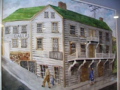 Painting of Original Chisago Hotel image. Click for full size.