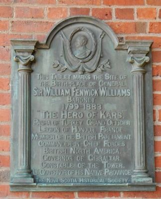 Sir William Fenwick Williams Marker image. Click for full size.