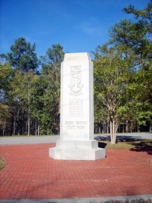 Bobby Brown State Park Monument South Inscription image. Click for full size.